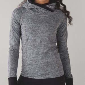 Lululemon Think Fast hoodie SOLID CHARCOAL, size 6